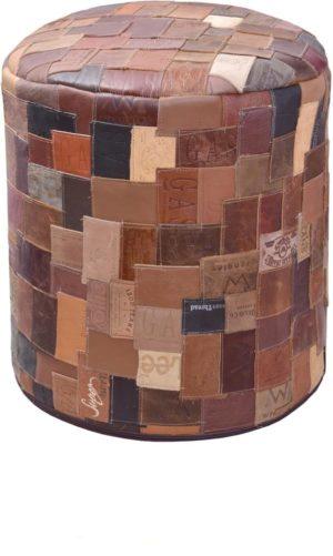 Leather Ottoman-0
