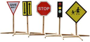 Child Size Traffic Signs (5pcs)-0