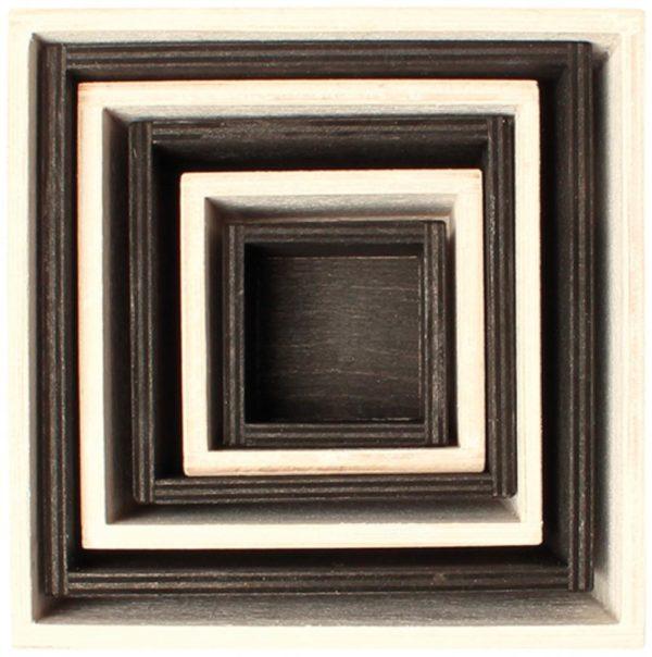 Black & White Stacking Boxes (6pcs)-12940