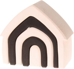 Black & White Stacking House (5pcs)-0