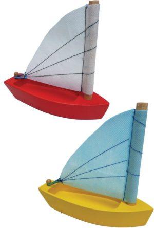 Wooden Sailing Boat (2pcs)-0