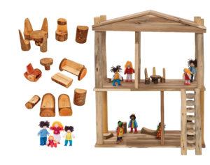 Natural Dolls House Set (20pcs)-0
