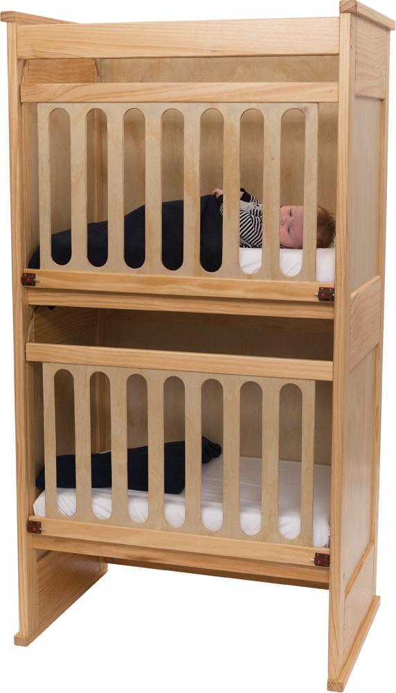 Tiny Tots Snuggle Bunk Cot & Mattress Set (3pcs)-0
