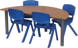 Heavy Duty Half Round Table-0