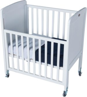 Tiny Tots Drop-Side Cot White Set (2pcs)-0