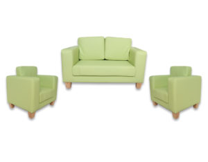 arbor green preschool couch and chari set