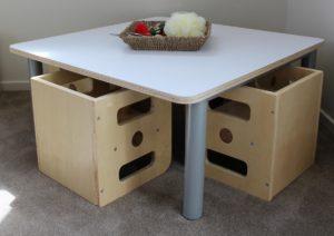 Tiny Tots Square Table & 4 Chair Set (5pcs)-0