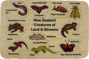 NZ Creatures of Land and Streams Puzzle (10pcs)-0