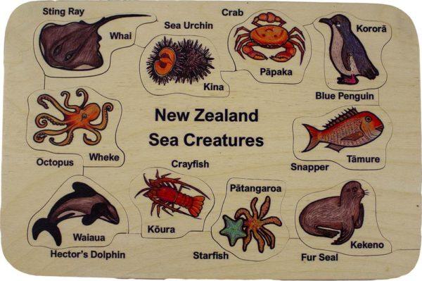 NZ Sea Creatures Puzzle (10pcs)-0