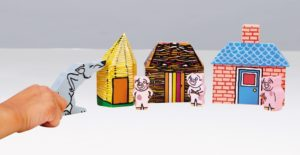 The Three Little Pigs Wooden Characters (7pcs)-0