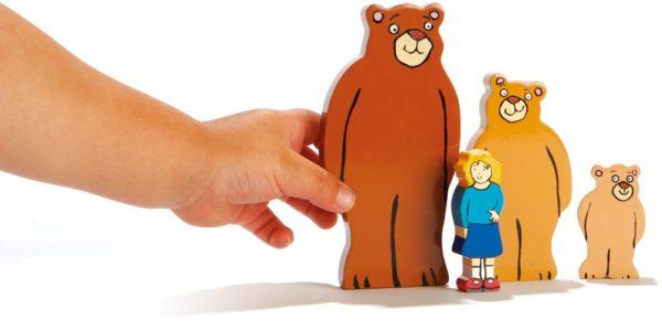 Goldilocks and the Three Bears Wooden Characters (4pcs)-0