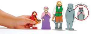 Little Red Riding Hood Wooden Characters (4pcs)-0