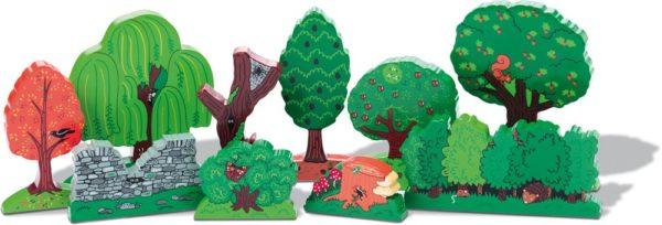 Wooden Tree Set (10pcs)-0