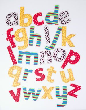 Feely Fabric Letters (26pcs)-0