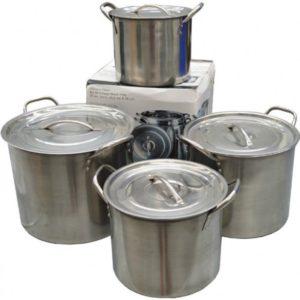 Stainless Steel Pots & Lids (4pcs)-0