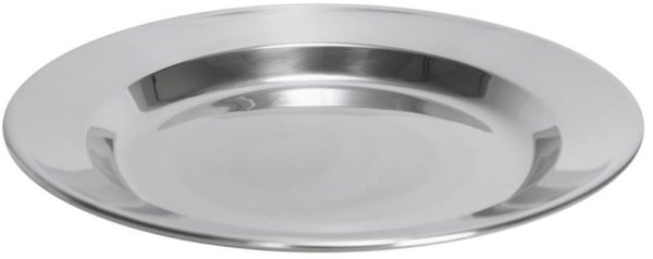 Stainless Steel Plate 24cm (4pcs)-0