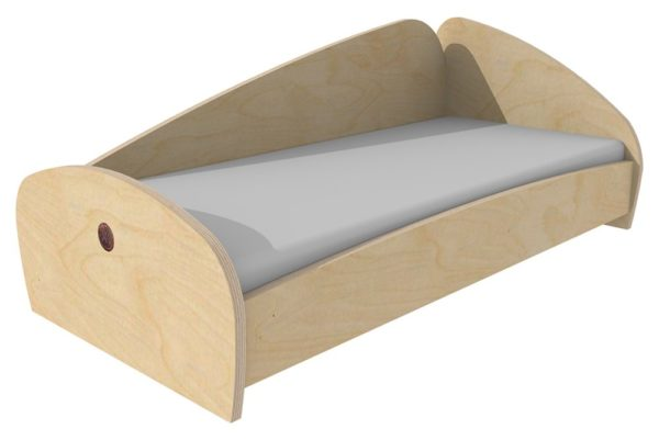 Space Saver Wooden Bed with Mattress-0