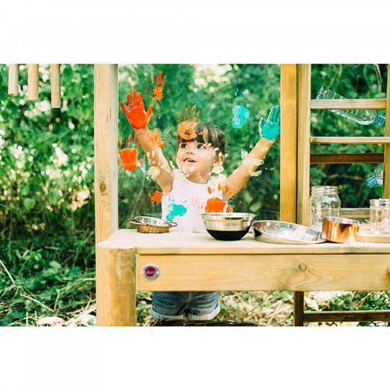 outdoor mud kitchen for children
